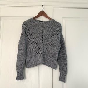Rag & Bone Boat Neck Cable Knit Sweater